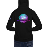 Abstract Effects Flower Hoodie