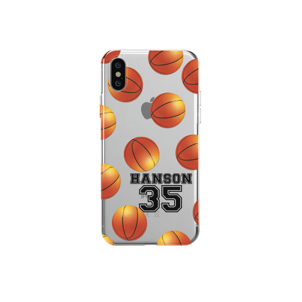 iPhone Case Clear Rubber Samsung Galaxy - Personalized Basketball Case