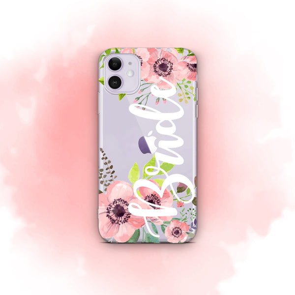 iPhone Case Clear Rubber Samsung Galaxy - Bride Floral Case