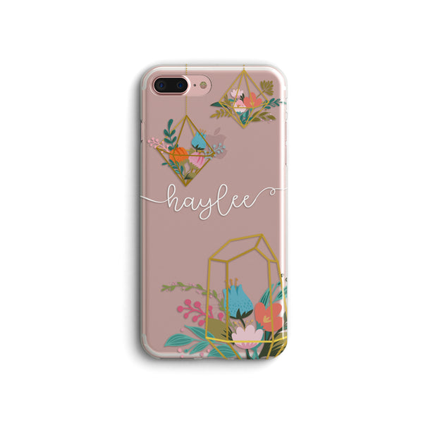 iPhone Case Clear Rubber Samsung Galaxy - Personalized Floral Case