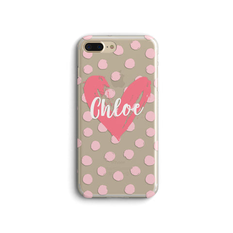 iPhone Case Clear Rubber Samsung Galaxy - Personalized Heart Case
