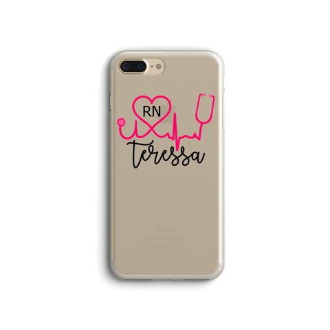iPhone Case Clear Rubber Samsung Galaxy - Personalized Nurse Case