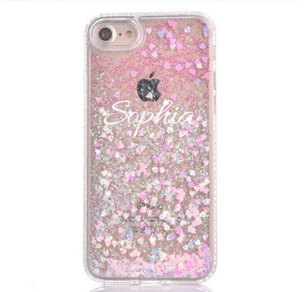 iPhone Case Samsung Galaxy - Personalized Glitter Case