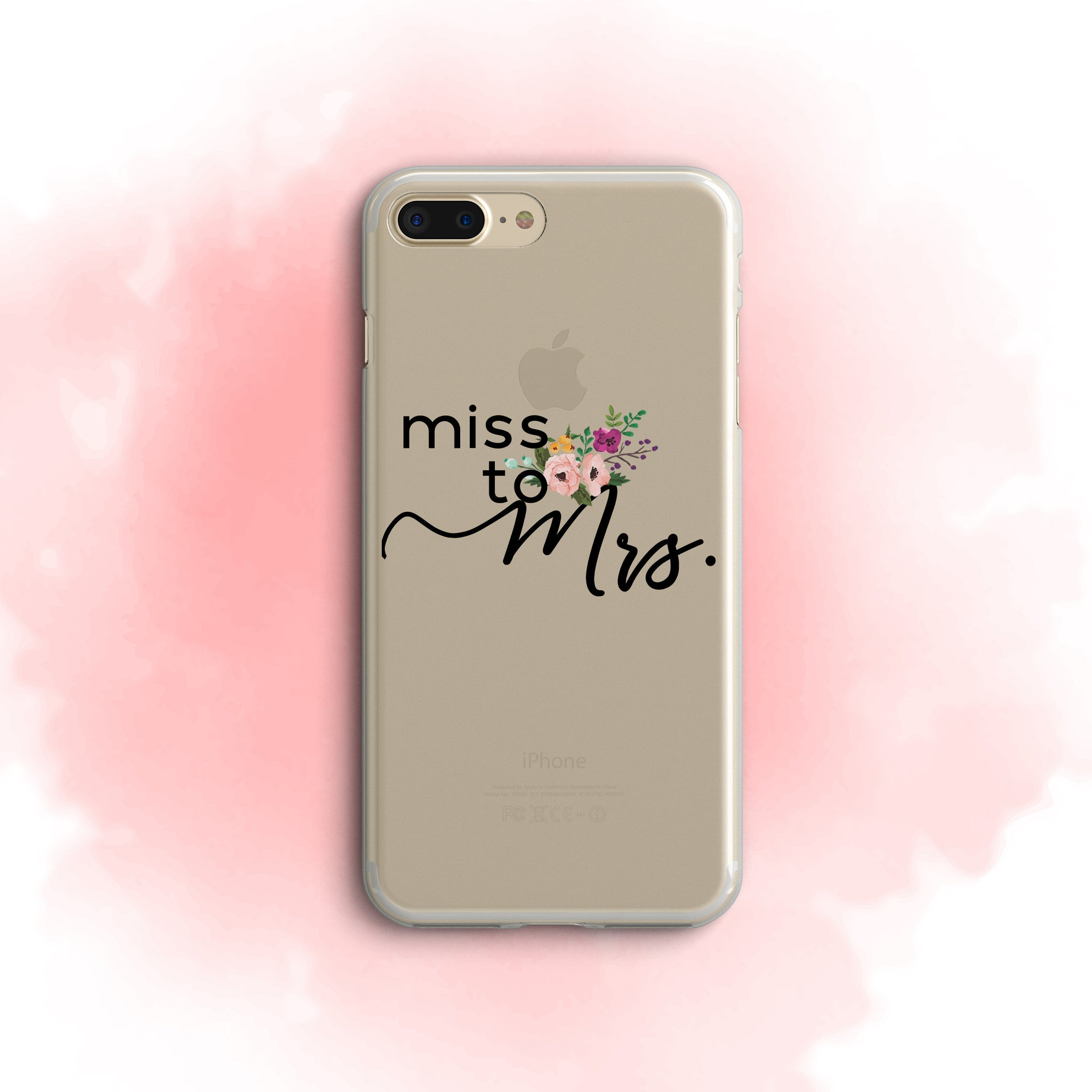 iPhone Case Clear Rubber Samsung Galaxy - Miss to Mrs. Case