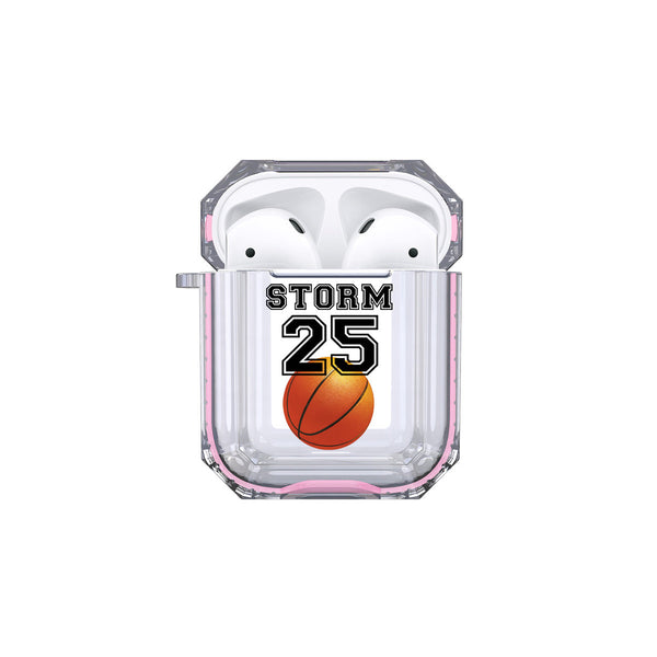 Protective Customized Sports Airpod Case Basketball Name and Number Airpods Case Personalized Gift for Basketball Player Coach Mom Dad Fan