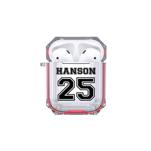 Protective Customized Sports Airpod Case Sports Name and Number Airpods Case Personalized Gift Sports Player Custom Sport Favorite Player