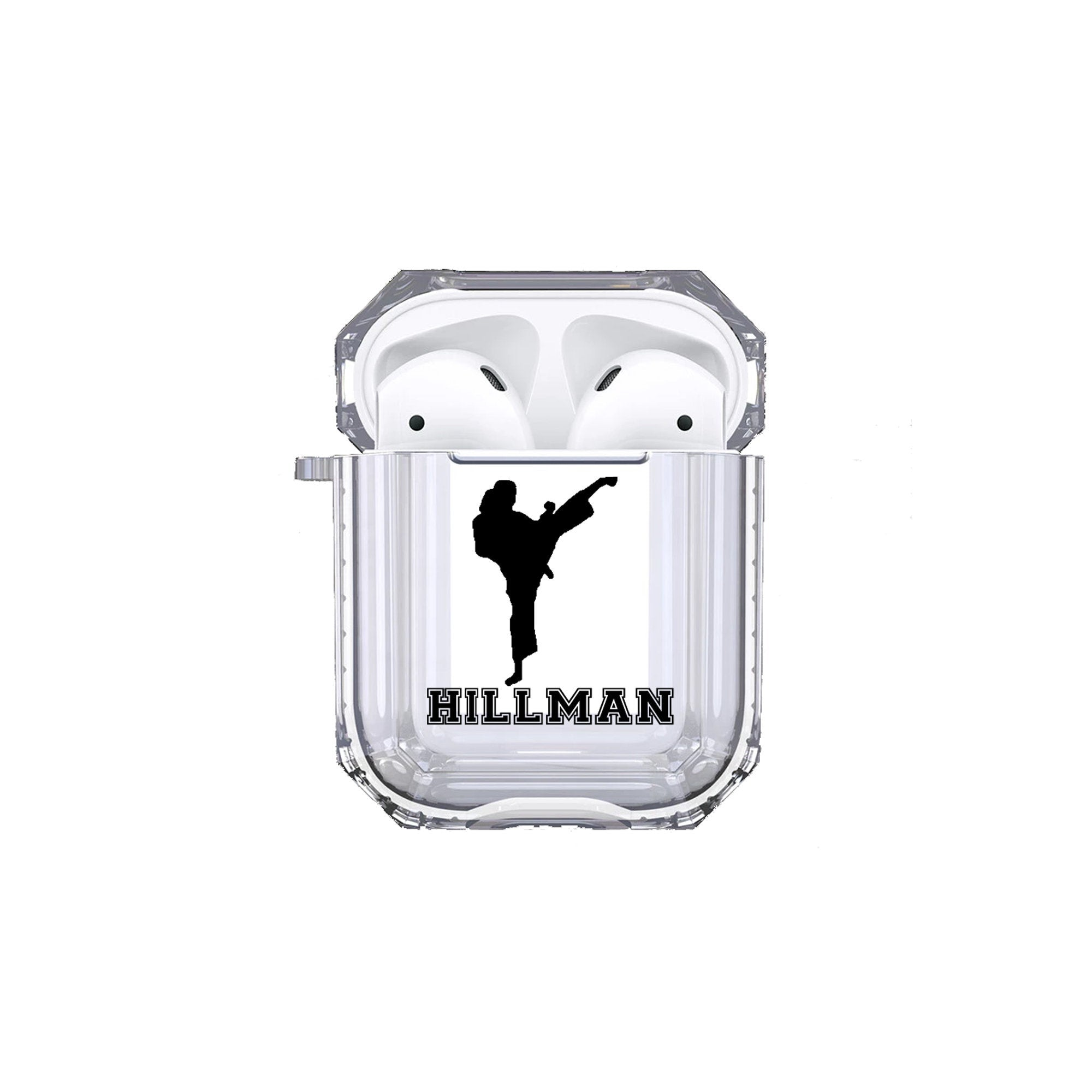 Protective Customized Sports Airpod Case Karate Name Airpods Case Personalized Gift for Karate Kid Martial Art Tae Kwon Do Coach Mom Dad Fan