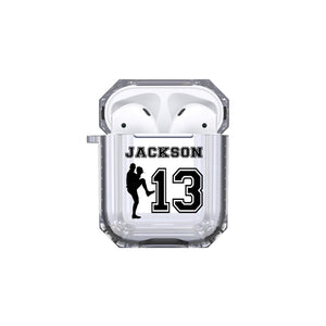 Protective Customized Sports Airpod Case Baseball Pitcher Name and Number Airpods Case Personalized Gift for Baseball Coach Mom Dad Fan