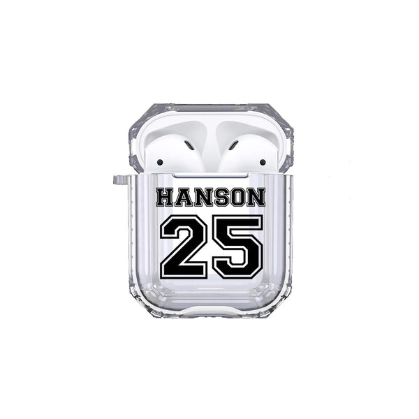 Protective Customized Sports Airpod Case Sports Name and Number Airpods Case Personalized Gift Sports Custom Sport Favorite Player Team