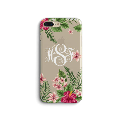 iPhone Case Clear Rubber Samsung Galaxy - Monogram Tropical Case