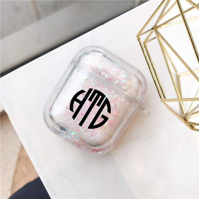 AirPods - Personalized Monogram Glitter AirPods