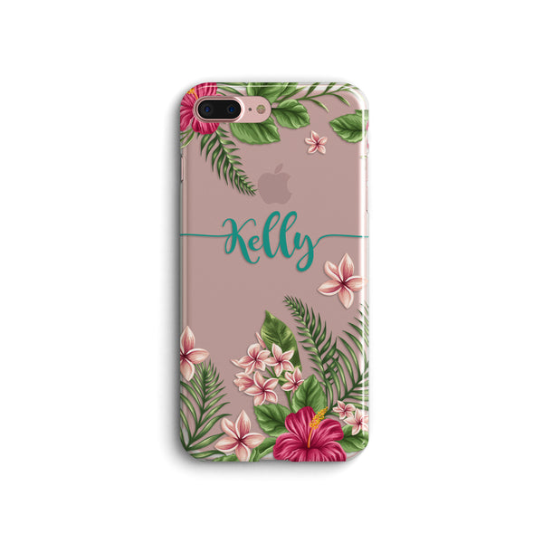 iPhone Case Clear Rubber Samsung Galaxy - Personalized Tropical Case