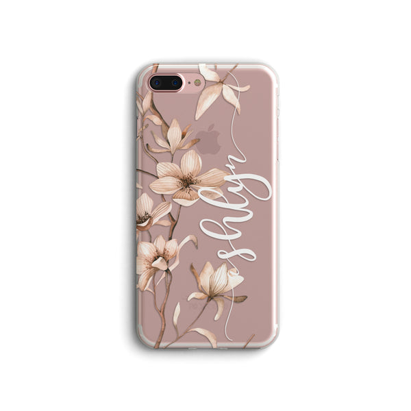 iPhone Case Clear Rubber Samsung Galaxy - Personalized Magnolia Case
