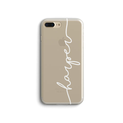 iPhone Case Clear Rubber Samsung Galaxy - Personalized Name Case