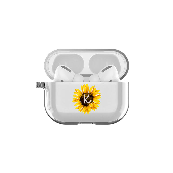 Airpod Pro - Customized Initial Sunflower Airpod Pro Case