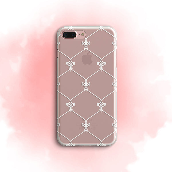 iPhone Case Clear Rubber Samsung Galaxy - Simply Laced Pattern Case