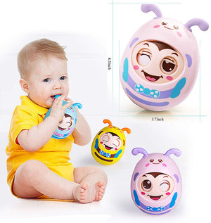 Baby Tumbler Teether Toys with Newborn (Rattle、Winking)