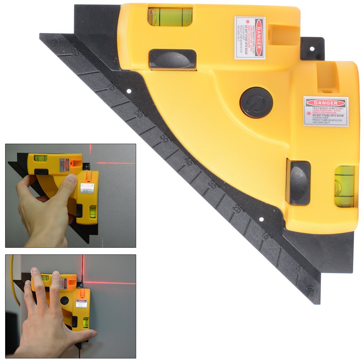 90 Degree Professional Laser Angle Meter Wire Tool