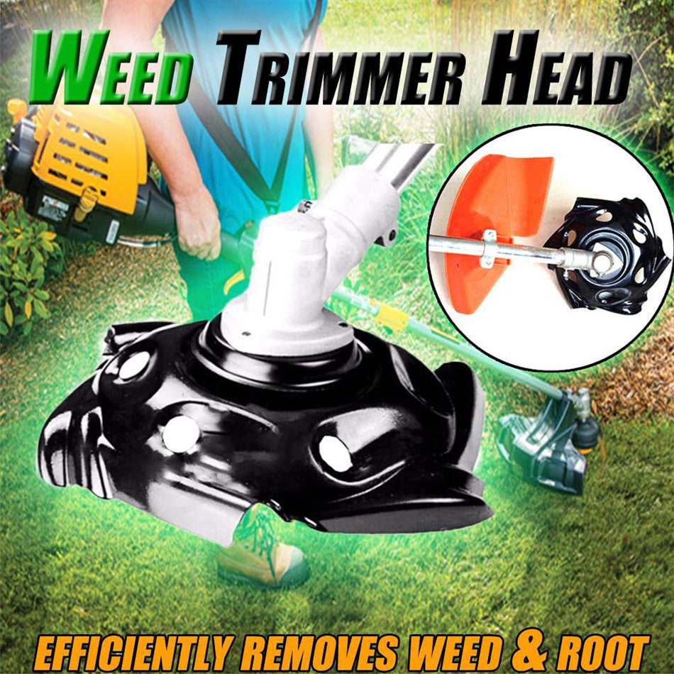 Break-Proof Rounded Edge Weed Trimmer Head for Lawn Mower