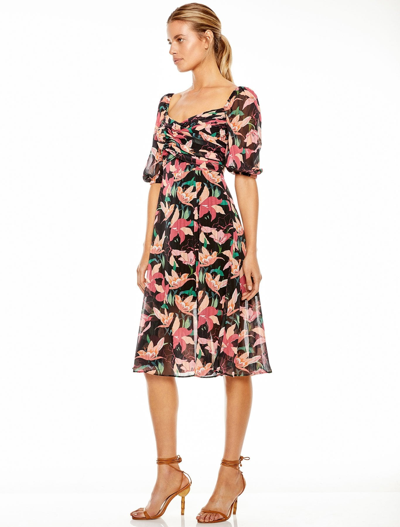 NIGHT MIRAGE MIDI DRESS