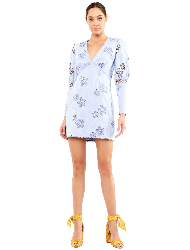 BLUE HUE LS MINI DRESS