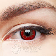 Ofovv® Eye Circle Lens  Party Mystery II Red  Contact Lenses V6001 (1 YEAR)