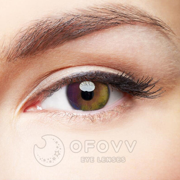 Ofovv® Eye Circle Lens Colorful Rainbow Colored Contact Lenses V6010(1 YEAR)