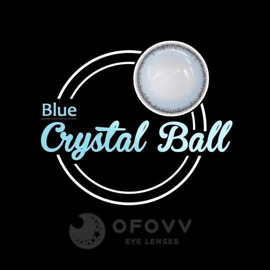Ofovv® Eye Circle Lens Crystal Ball Blue Colored Contact Lenses V6011(1 YEAR)