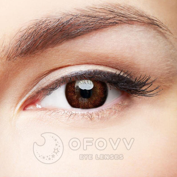 Ofovv® Eye Circle Lens Starshine Doll Brown Colored Contact Lenses V6022(1 YEAR)