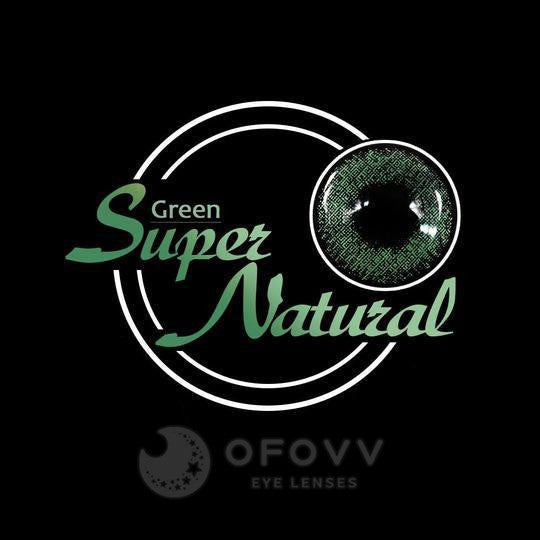 Ofovv® Eye Circle Lens Super Natural Green Colored Contact Lenses V6027(1 YEAR)