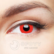 Ofovv® Eye Circle Lens Devil Red Naruto Colored Contact Lenses V6032(1 YEAR)