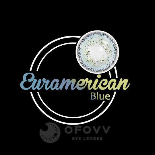 Ofovv® Eye Circle Lens Euramerican Blue Colored Contact Lenses V6042(1 YEAR)