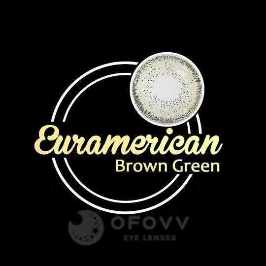 Ofovv® Eye Circle Lens Euramerican Brown-Green Colored Contact Lenses V6043(1 YEAR)
