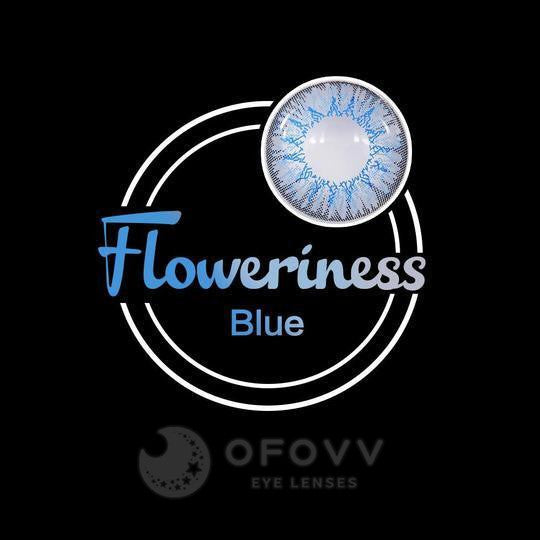 Ofovv® Eye Circle Lens Floweriness Blue Colored Contact Lenses V6049(1 YEAR)