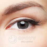Ofovv® Eye Circle Lens Floweriness Grey Colored Contact Lenses V6052(1 YEAR)
