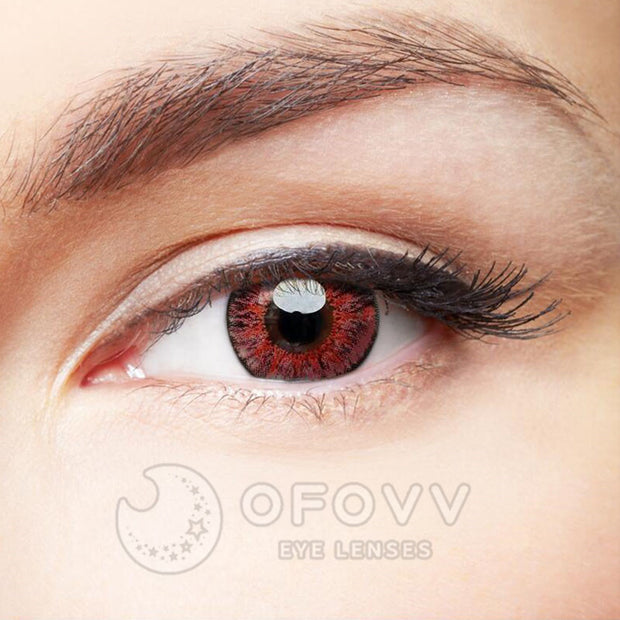 Ofovv® Eye Circle Lens Floweriness Pink Colored Contact Lenses V6055(1 YEAR)