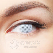 Ofovv® Eye Circle Lens Gridding White Colored Contact Lenses V6068(1 YEAR)
