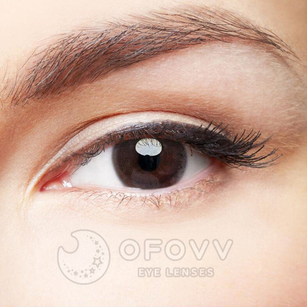 Ofovv® Eye Circle Lens HD Chocolate Colored Contact Lenses V6071(1 YEAR)
