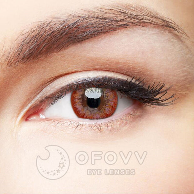 Ofovv® Eye Circle Lens Lily Pink Colored Contact Lenses V6081(1 YEAR)