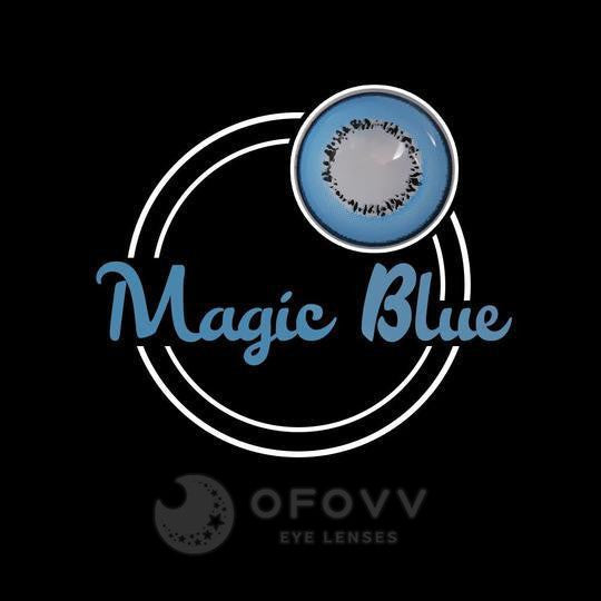 Ofovv® Eye Circle Lens Magic Blue Colored Contact Lenses V6083(1 YEAR)
