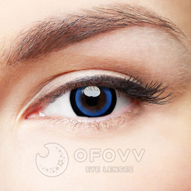 Ofovv® Eye Circle Lens Moonlight Blue Colored Contact Lenses V6090(1 YEAR)