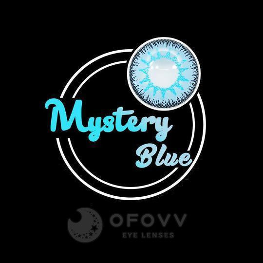 Ofovv® Eye Circle Lens Mystery Blue Colored Contact Lenses V6095(1 YEAR)