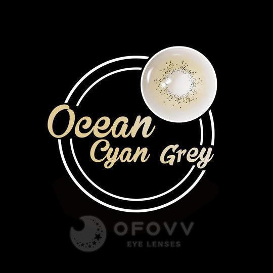 Ofovv® Eye Circle Lens Ocean Cyan Grey Colored Contact Lenses V6101(1 YEAR)