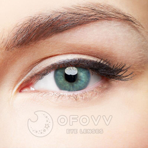 Ofovv® Eye Circle Lens Polar Lights Blue Colored Contact Lenses V6105(1 YEAR)