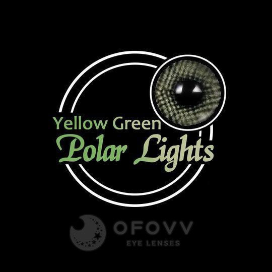 Ofovv® Eye Circle Lens Polar Lights Yellow-Green Colored Contact Lenses V6113(1 YEAR)