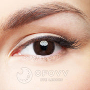 Ofovv® Eye Circle Lens Queen Chocolate Colored Contact Lenses V6116(1 YEAR)