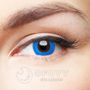 Ofovv® Eye Circle Lens Pure Blue Colored Contact Lenses V6137(1 YEAR)