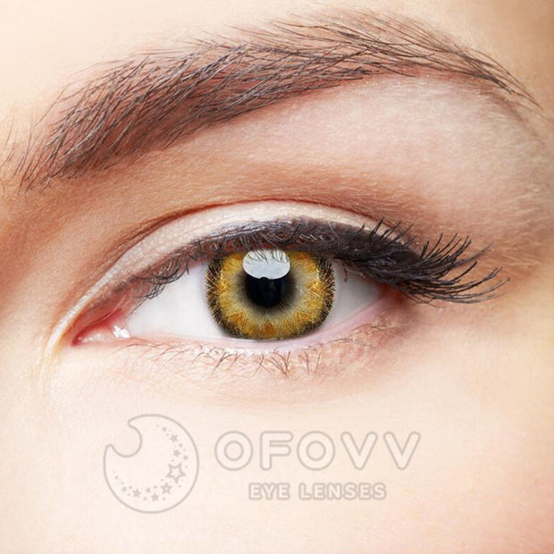 Ofovv® Eye Circle Lens Radial Brown Colored Contact Lenses V6147(1 YEAR)