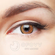 Ofovv® Eye Circle Lens Muse Brown Colored Contact Lenses V6151(1 YEAR)