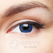 Ofovv® Eye Circle Lens Muse Blue Colored Contact Lenses V6152(1 YEAR)